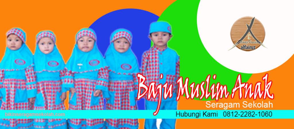 Supplier  baju segaram sekolah muslim Kabupaten Pegunungan Bintang